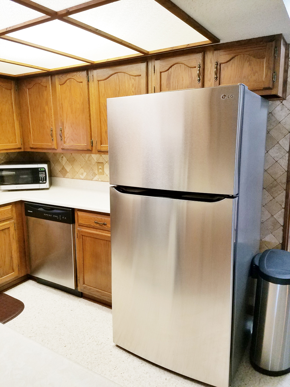 whitney j decor   kitchen before   white kitchen decor   one room challenge