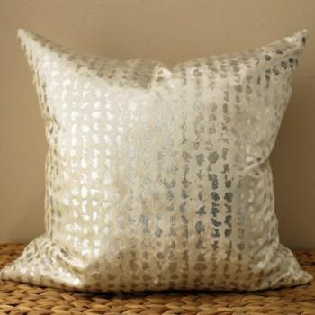 white velvet pillow   silver metallic pillow   white metallic pillow   metallic silver pillow   silver velvet pillow   cream velvet pillow   cream metallic pillow