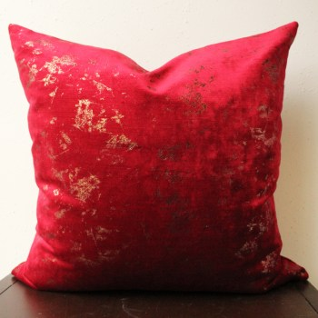 red velvet pillow cover   red and copper   copper pillow   glam red velvet pillow   copper glam pillow   living room decor   bedroom decor