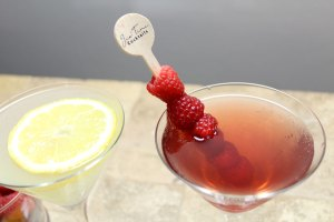 martini recipes | lemon drop martini | raspberry cosmo martini | justini cocktails | bar cart essentials