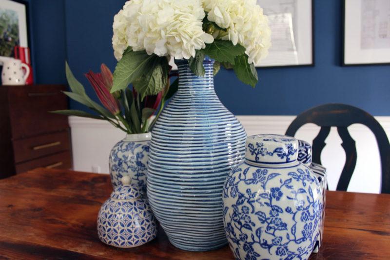blue transitional dining room | whitney j decor | interior designer nola | nola interior designer | new orleans interior designer