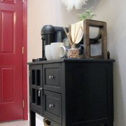 kitchen hallway decor | kitchen decor | coffee station | whitney j decor | new orleans blogger | nola blogger