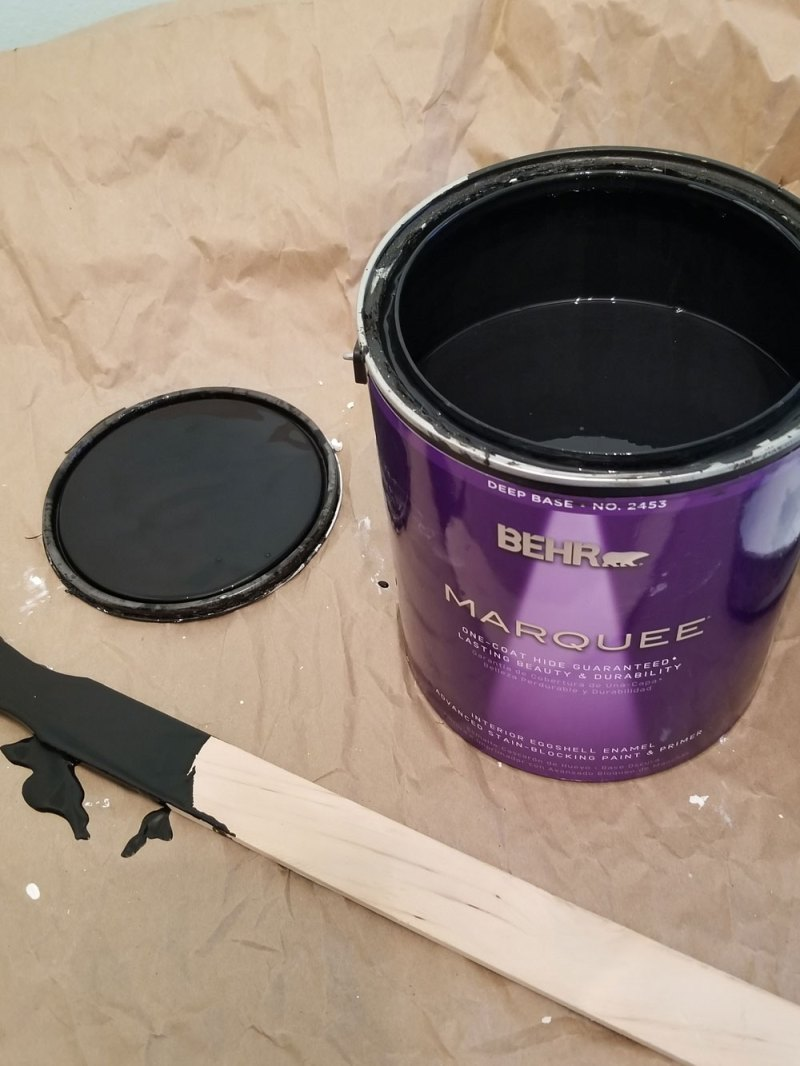 laundry room ceiling paint | behr marquee limousine leather | black laundry room ceiling | black ceiling | black bathroom ceiling