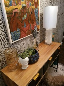 one room challenge | whitney j decor | nola blogger | new orleans blogger | tribal entryway design | eclectic entryway | tribal foyer design | eclectic foyer | interior design | new orleans interior designer | nola design | nola interior designer | nola homes