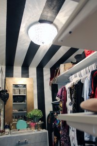 black and white closet decor | black and white decor | master closet inspiration | master closet ideas | walk in closet ideas | glam walk in closet | eclectic walk in closet | new orleans interior design | new orleans decorator | nola interior design | nola decorator | whitney j decor