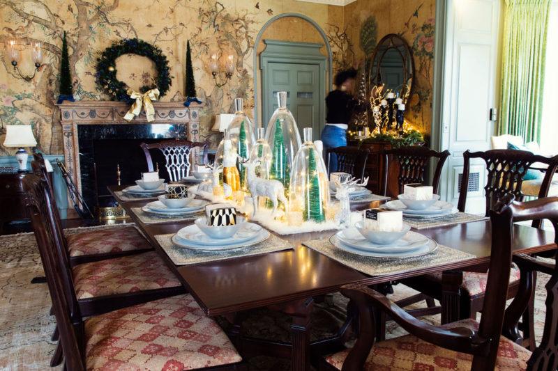 blue and green christmas decor   holiday decor   whitney j decor