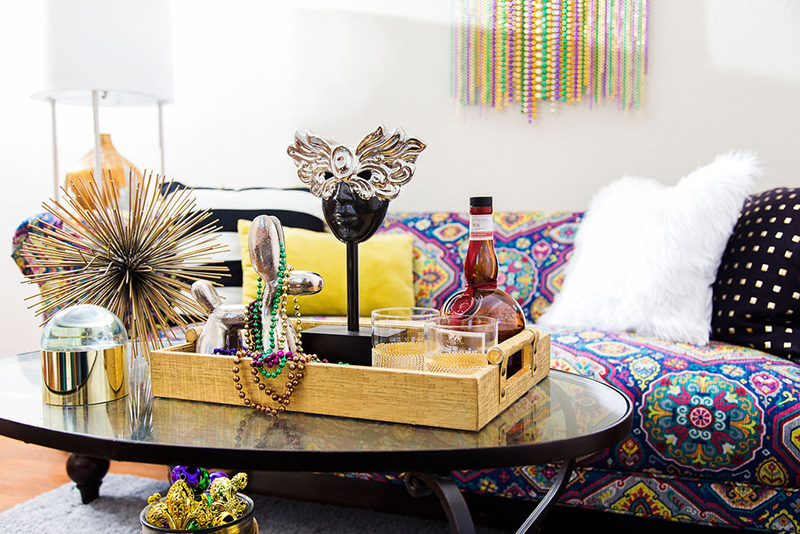 mardi gras home decor living room