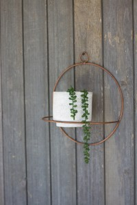 wall hanging clay pot hung on wall