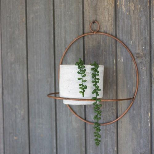wall hanging clay pot hung on wall