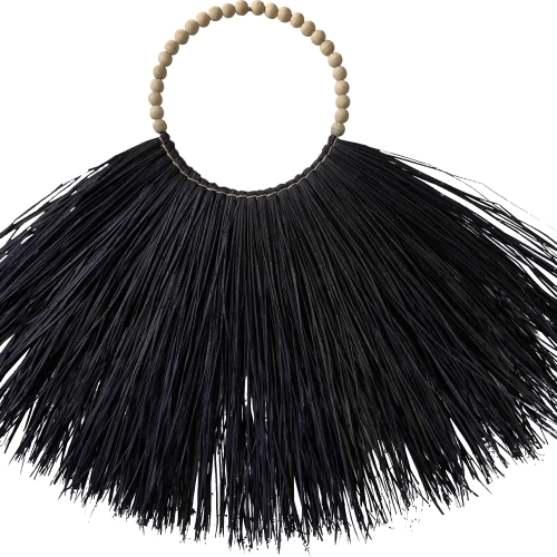 black indonesian grass necklace
