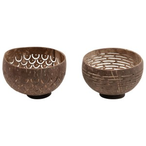 carved coconut bowl