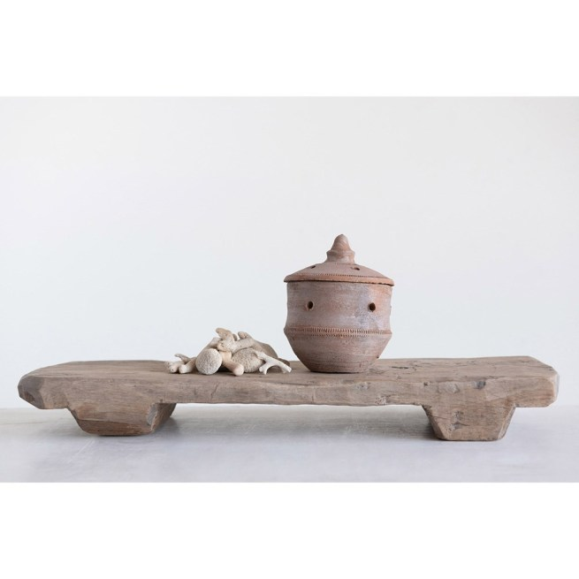 clay incense burner