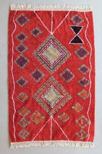red fringe rug