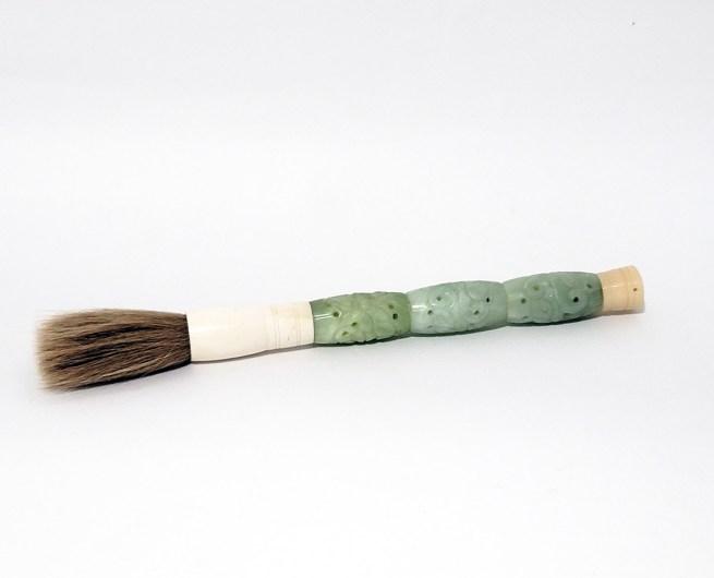vintage carved jade calligraphy brush