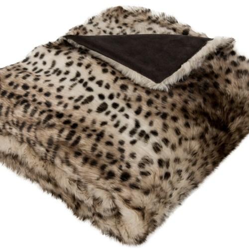 faux cheetah throw