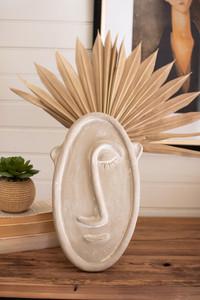 modern face clay bud vase
