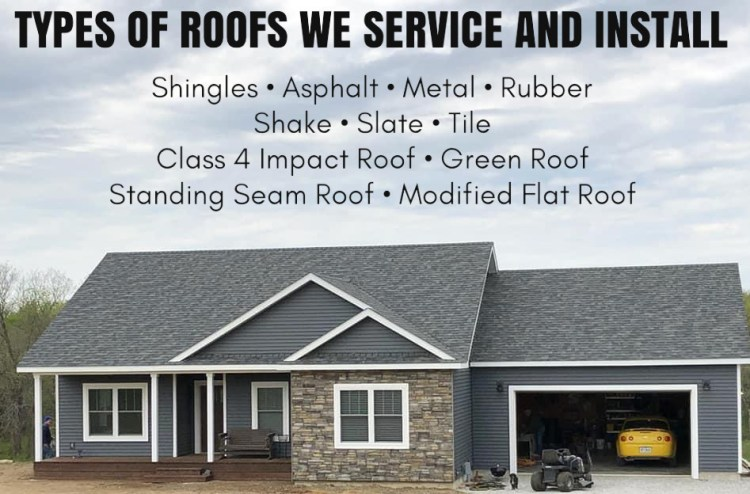 Photo of roofing's services offered