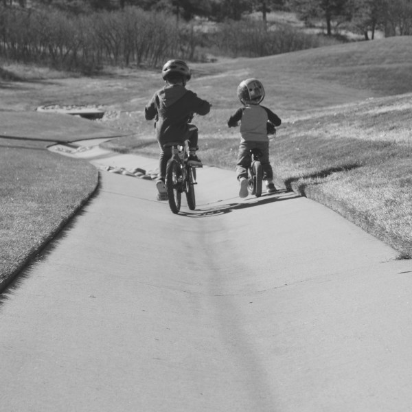 My boys and their bikes.
