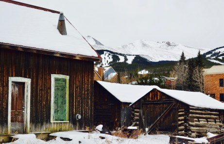 Breckenridge was established in the 1800s, and these wooden cabins throughout town remain standing.