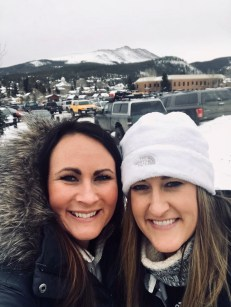 Sisters reunited for girls weekend in the mountains.