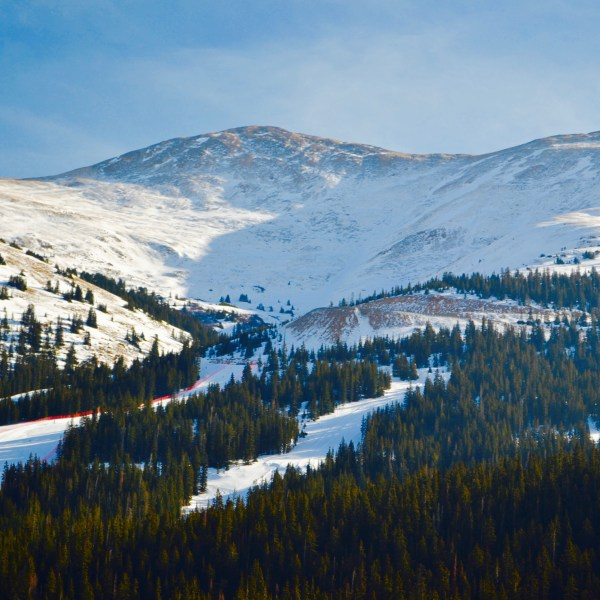 Views of the Loveland ski resort in Colorado.