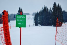 Ski school area is marked very clearly and is easy for parents to watch their kiddos!