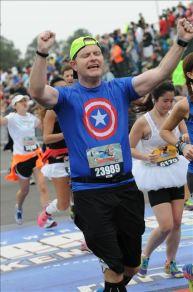 Finishing the marathon at WDW Resort.