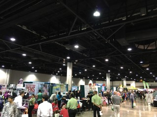 Several of the booths at the expo