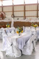 Wedding Reception in Barn