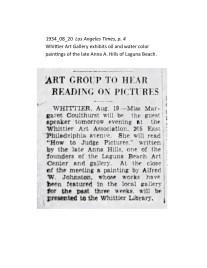 1934_08_20 Los Angeles Times Anna Hills Exhibit