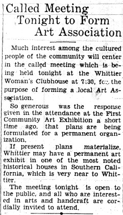 1934_05_22 Meeting to form art assoc.