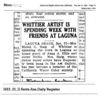 1923_01_11 SAR Mabel Visits Anna for a week-mem CA W-C Society EDITED (1)