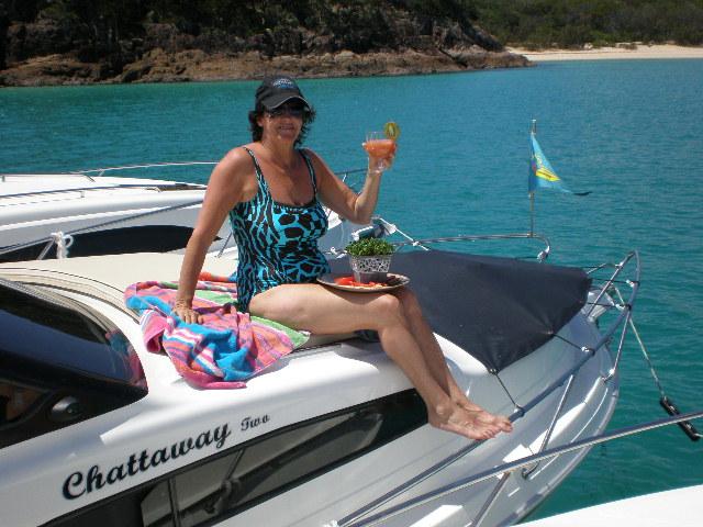Pauline on the sundeck