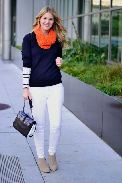 stripes winter layers