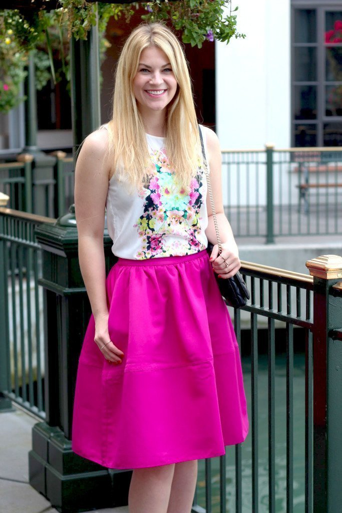 whit floral top midi skirt6