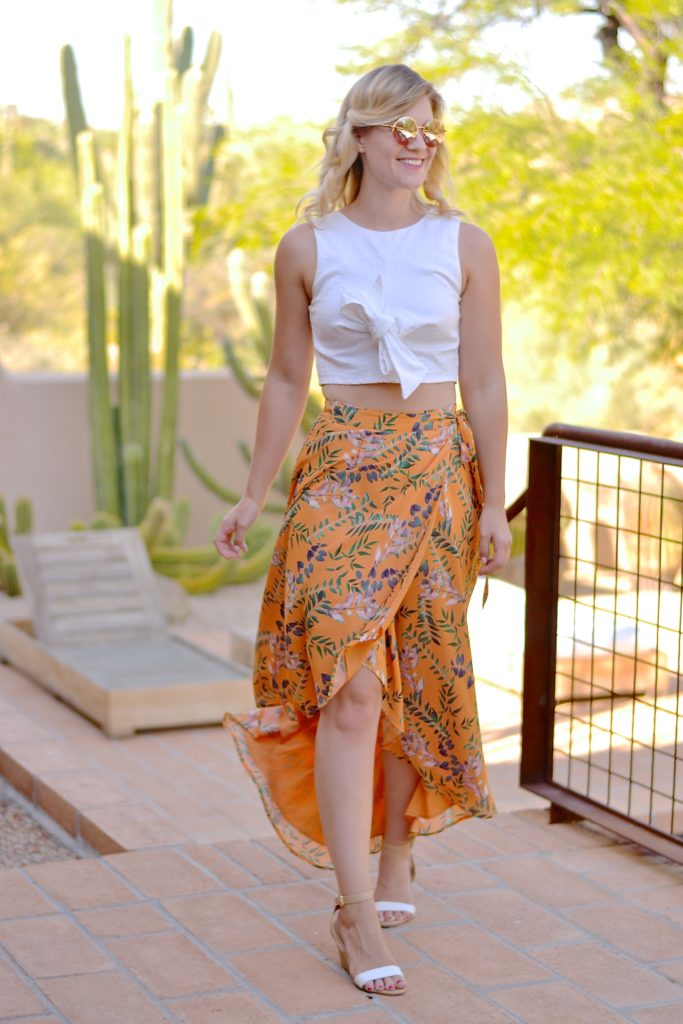 The Classic Wrap Skirt house of harlow