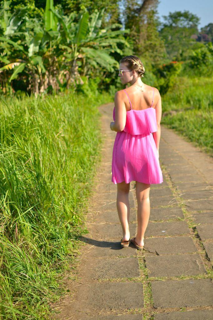 pink dress bali