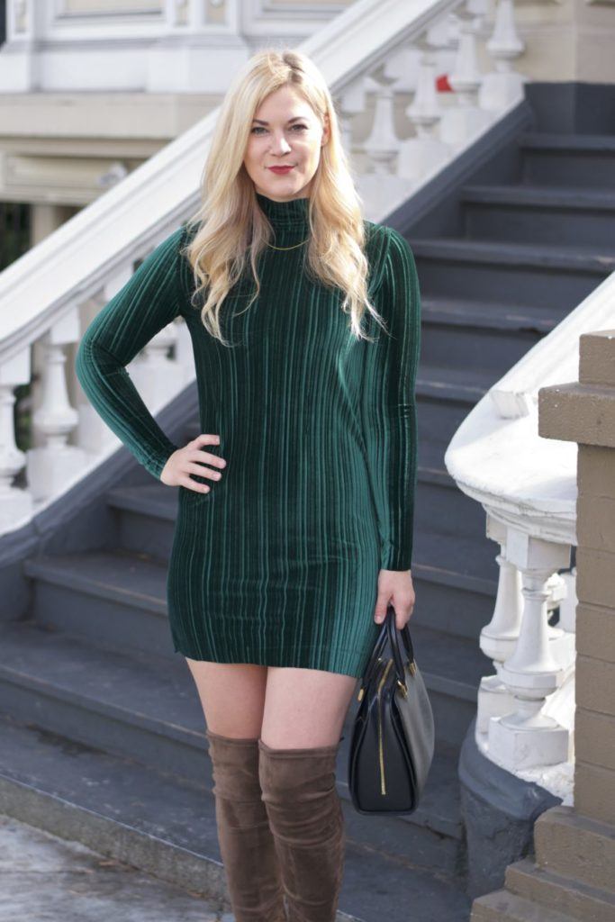 velvet dress long sleeve