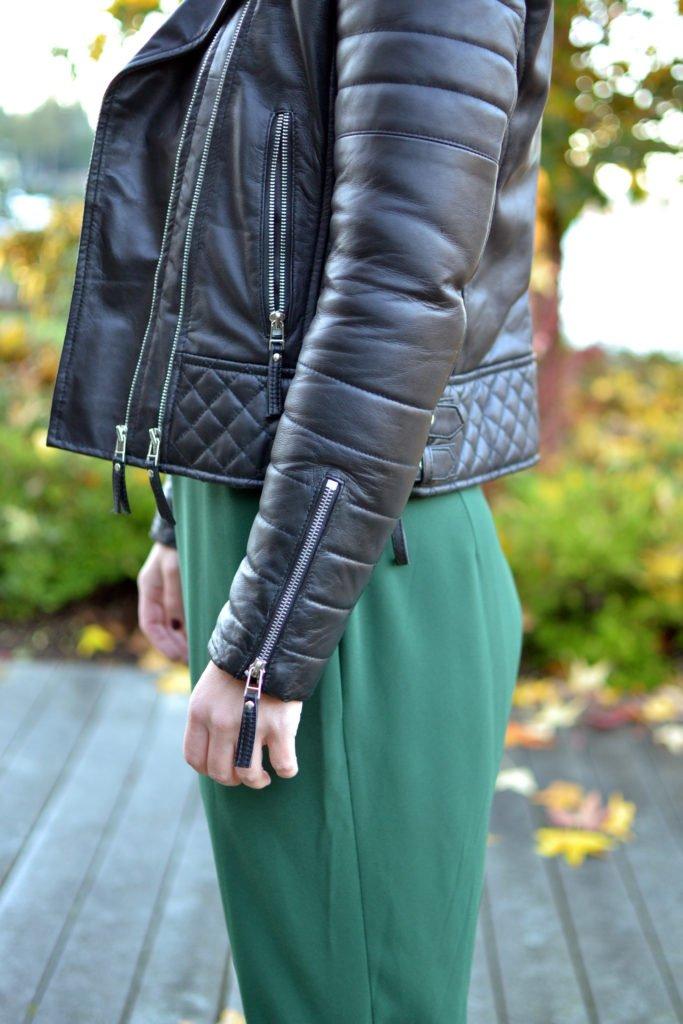 leather jacket details
