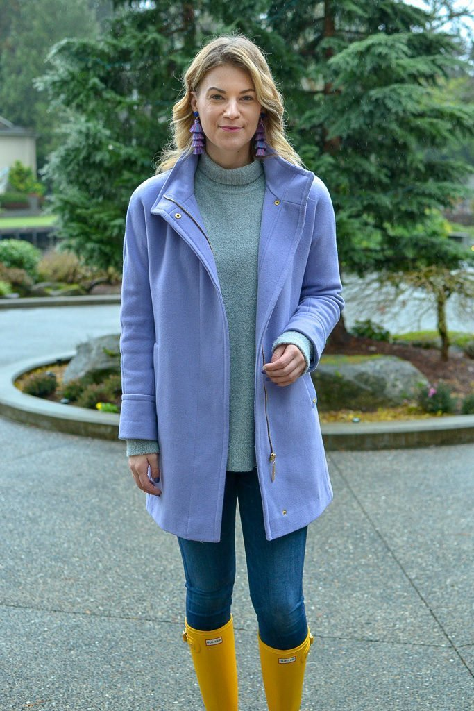 Purple Coat and turtleneck