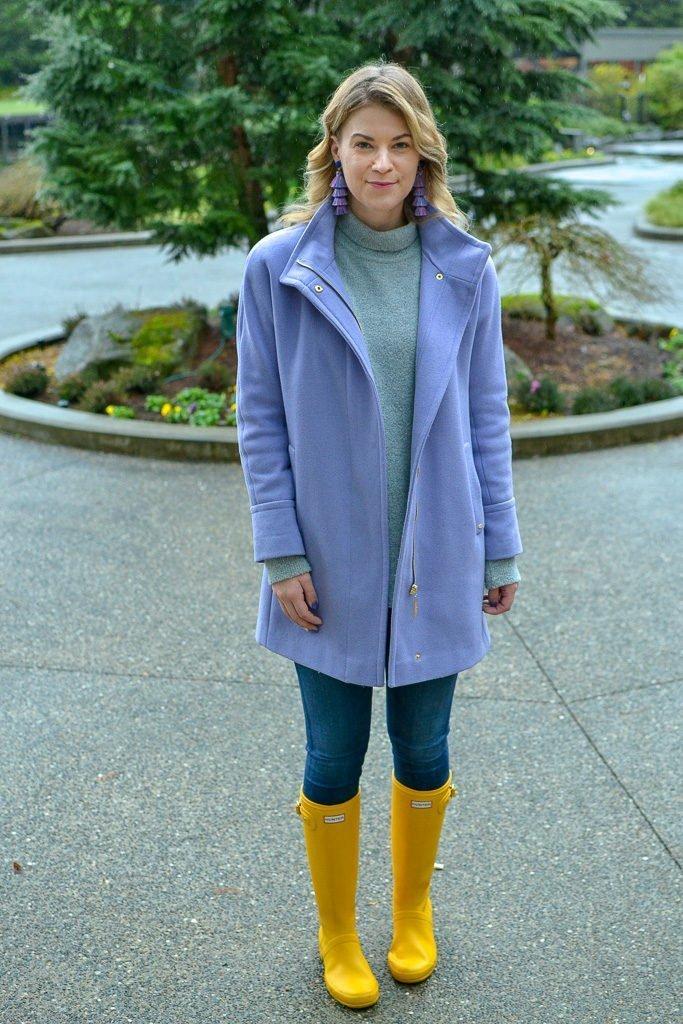winter style yellow hunter boots
