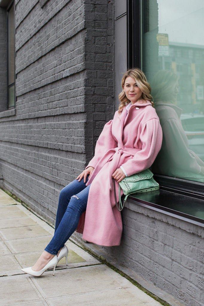 pink statement coat topshop