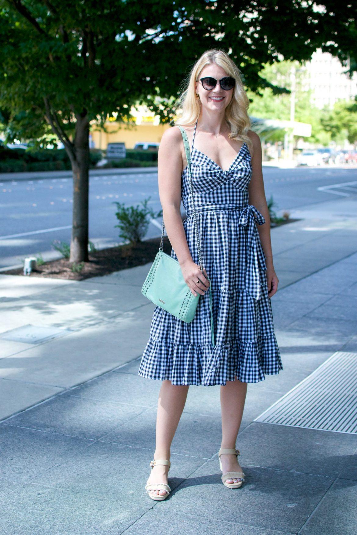 summer staple gingham dress
