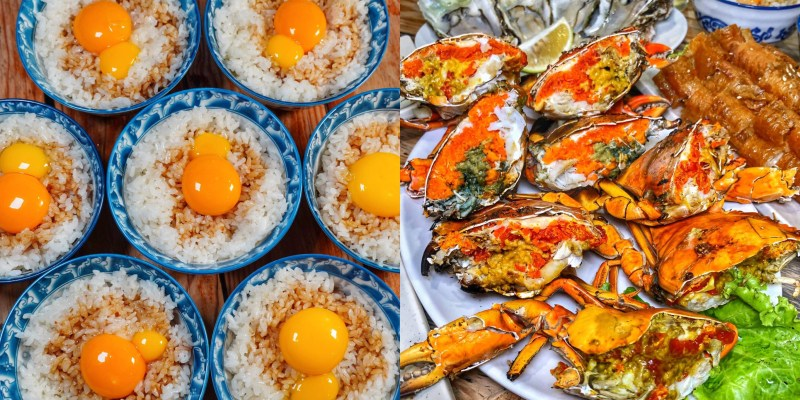 台南最狂燒烤【府城騷烤家】獨家雙蛋豬油拌飯/超飽滿蟹黃的紅蟳吸睛程度爆表!