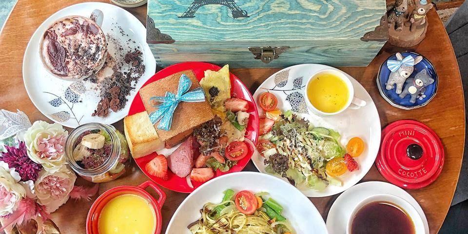 台南中西區早午餐【 Coffee Cafe 咖啡珈琲 】童話故事般的珠寶盒結合創作料理 |台南法式甜點 | 台南早午餐