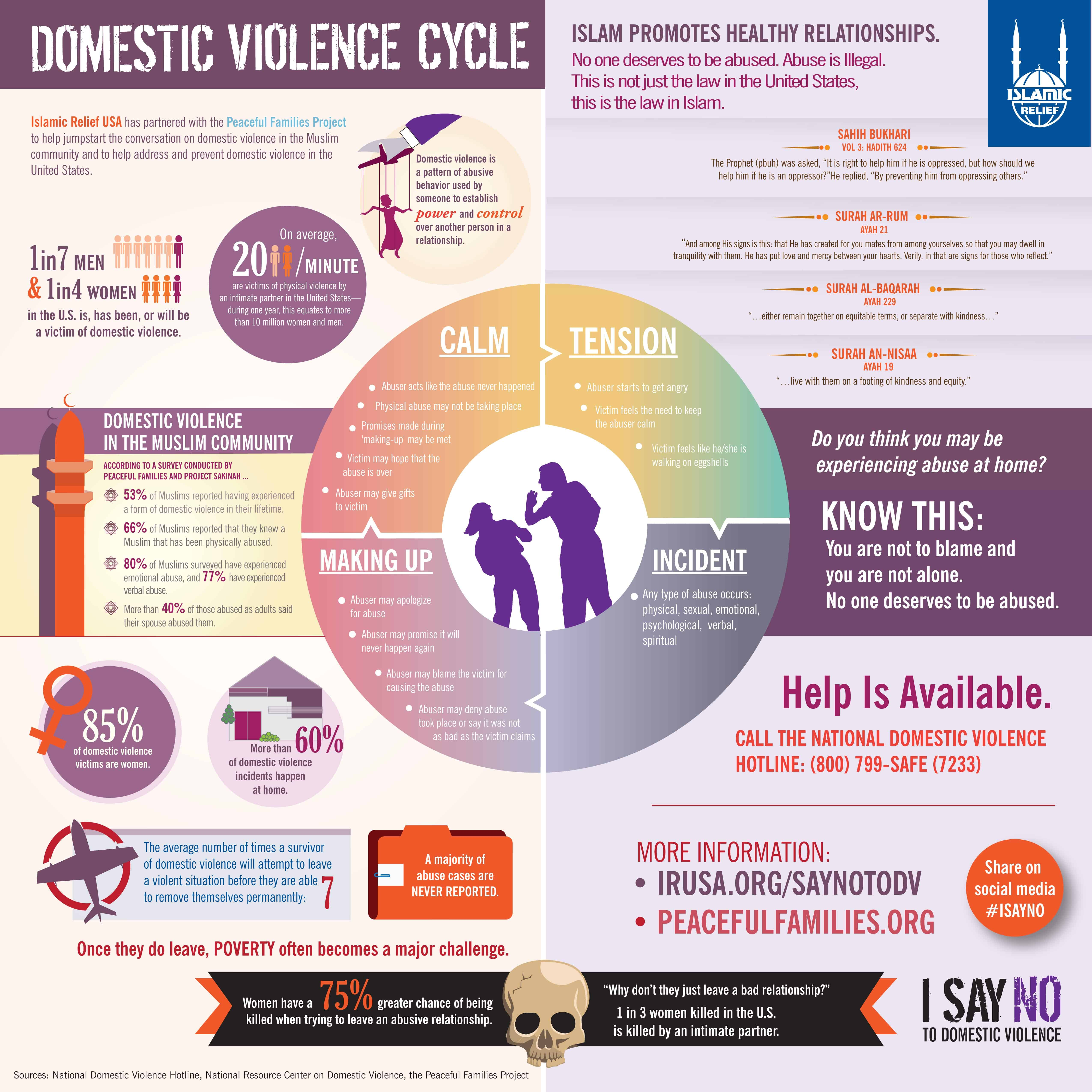 Infographic Domestic Violence Cycle