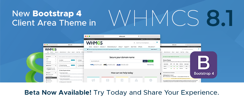 WHMCS 8.1 Beta Now Available