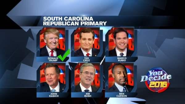 Donald Trump wins South Carolina GOP presidential primary ...