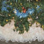 Woman Finds New Use For Wedding Dress As A Christmas Tree Skirt Whnt Com