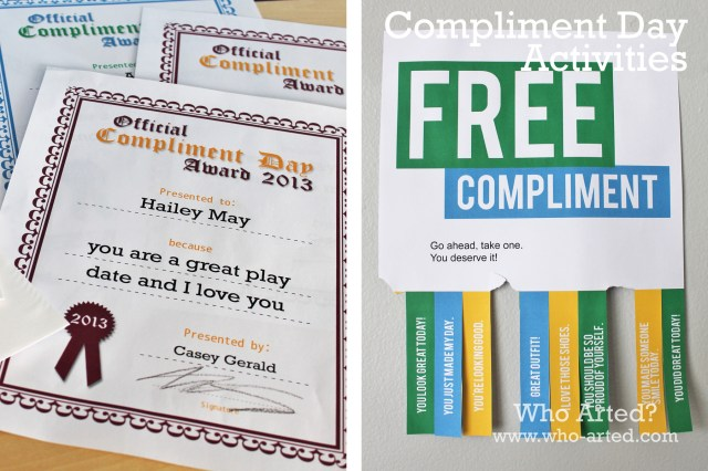 Compliment Day Collage